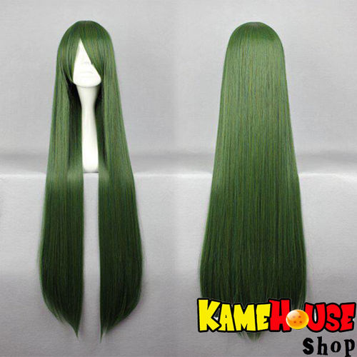 Straight wig 100 cm - Green Petroleum