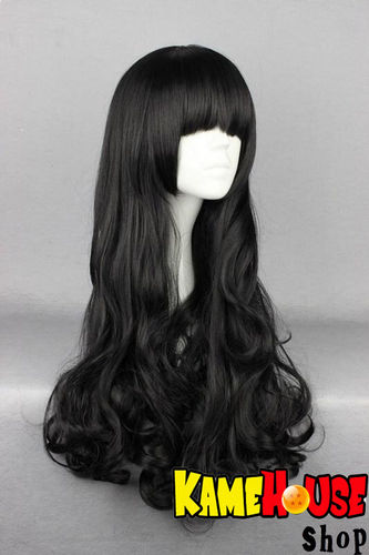 Curly wig 80 cm - Black