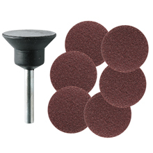 Backing pad and 6 abrasive disks