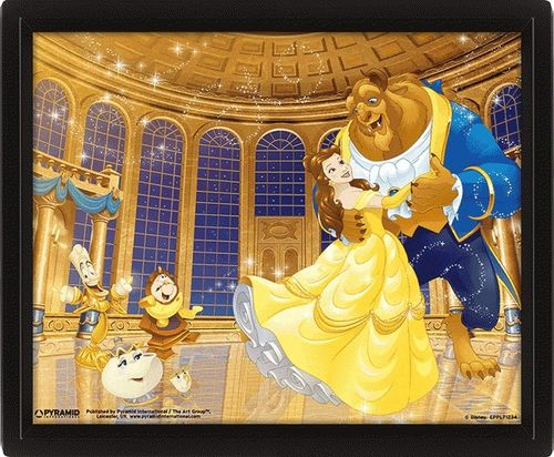 THE BEAUTY AND THE BEAST DA 3D FRAME