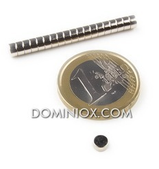 Neodium Cylindrical magnets (20) Dia 4X2 - attraction 450g