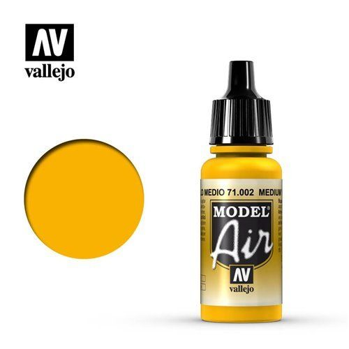 71.002 Vallejo Model Air: Medium Yellow [17ml]