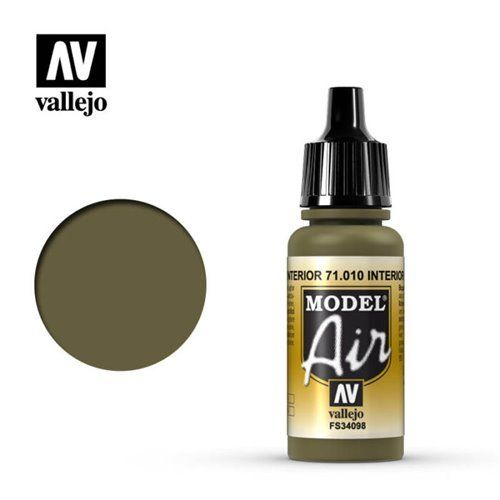71.010 Vallejo Model Air: Interior Green FS34098 [17ml]