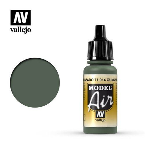 71.014 Vallejo Model Air: Gunship Green [17ml]