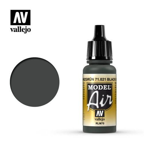 71.021 Vallejo Model Air: Black Green RLM70 [17ml]