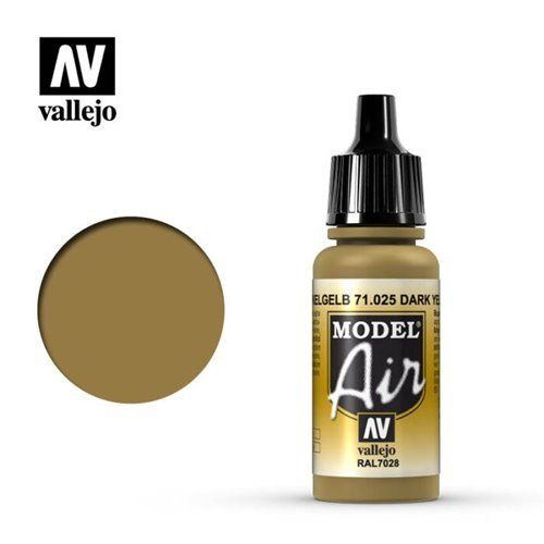 71.025 Vallejo Model Air: Dark Yellow RAL7028 [17ml]