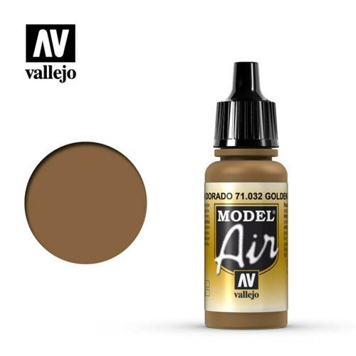 71.032 Vallejo Model Air: Golden Brown [17ml]