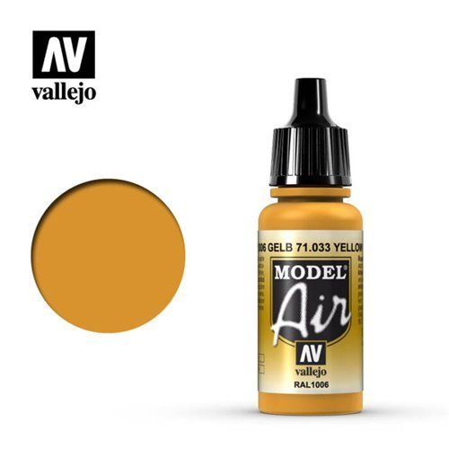 71.033 Vallejo Model Air: Yellow Ochre RAL1006 [17ml]