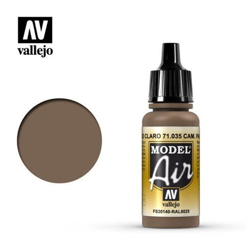 71.035 Vallejo Model Air: Camo Pale Brown FS30140 RAL8025 [17ml]