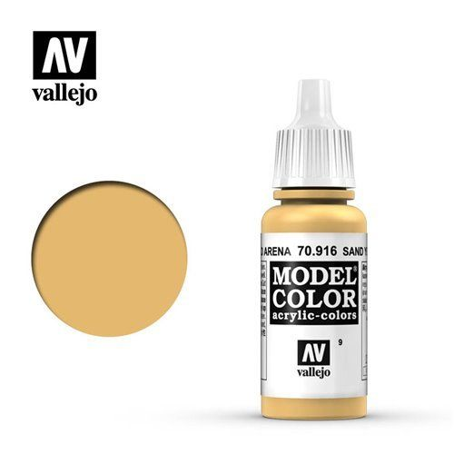 009 70.916 Vallejo Model Color: Sand Yellow (17ml)