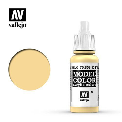 013 70.858 Vallejo Model Color: Ice Yellow (17ml)