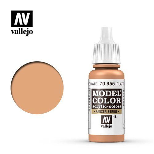 018 70.955 Vallejo Model Color: Flat Flesh (17ml)