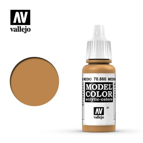 021 70.860 Vallejo Model Color: Medium Fleshtone (17ml)