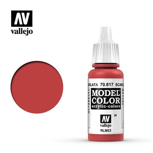 026 70.817 Vallejo Model Color: Scarlet RLM23 (17ml)