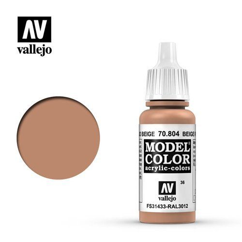 036 70.804 Vallejo Model Color: Beige Red FS31433 RAL3012 (17ml)