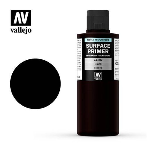 74.602 Vallejo Primer: Black ACR-POL (200ml)